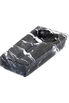 Altıncı Cadde Siyah Mermer Puro Kül Tablası 3 x (7-10) x 20
