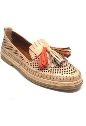 Shop And Shoes 001-229643 Kadın Babet Bej