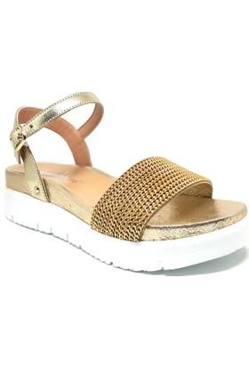 Shop And Shoes 001-540038 Kadın Sandalet Altın