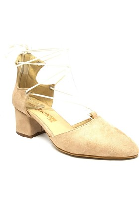Shop And Shoes 158-1804 Kadın Ayakkbabı Bej Süet