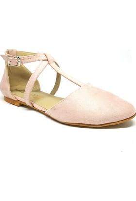 Shop And Shoes 158-1807 Kadın Ayakkbabı Pudra Süet