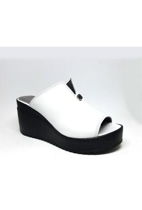 Shop And Shoes 212-961 Kadın Terlik Beyaz