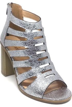 Shop And Shoes 031-1636 Kadın Ayakkabı Gümüş
