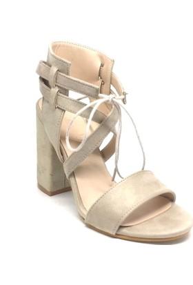 Shop And Shoes 173-521 Kadın Ayakkabı Bej Süet