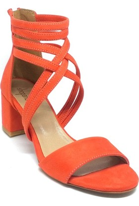 Shop And Shoes 173-1132 Kadın Ayakkabı Mercan Süet