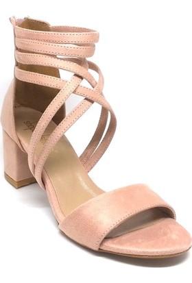 Shop And Shoes 173-1132 Kadın Ayakkabı Pudra Süet