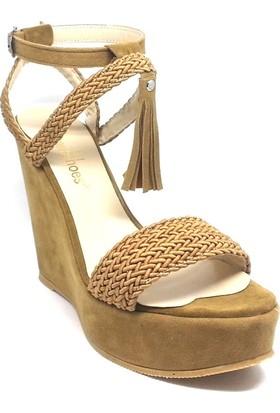 Shop And Shoes 173-2315 Kadın Ayakkabı Camel Süet