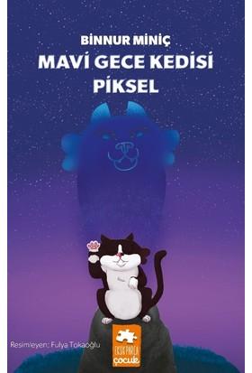 Mavi Gece Kedisi Piksel - Binnur Miniç