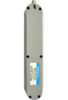 Acl Ac28 Akım Korumalı Priz Anti Statik Otomatik Sıcaklık Koruma 2.1A 1,5 M