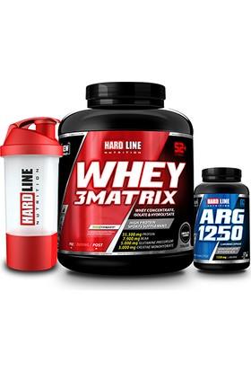 Hardline Nutrition Whey 3 Matrix Protein Tozu Muz 2300 Gr + Arg 1250 120 Kapsül + Shaker