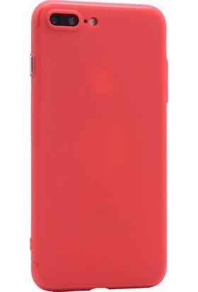 Case 4U Apple iPhone 7 - 8 Plus Kılıf Mıknatıslı Silikon Arka Kapak - Kırmızı