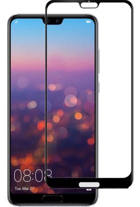 Case 4U Huawei P20 Temperli Premium Cam Ekran Koruyucu - Siyah