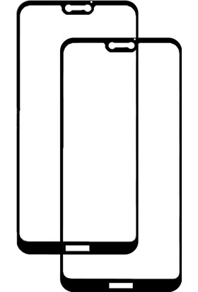 Case 4U Huawei P20 Lite Temperli Premium Cam Ekran Koruyucu - Siyah
