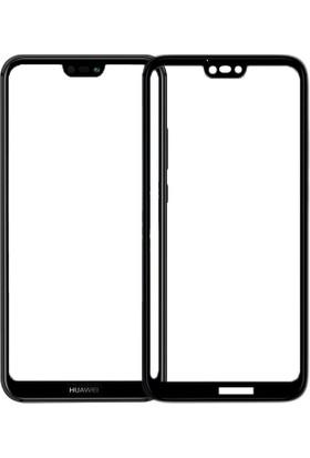 Case 4U Huawei P20 Lite Tam Kaplayan Ekran Koruyucu - Nano Fiber - Siyah