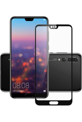 Case 4U Huawei P20 Tam Kaplayan Ekran Koruyucu - Nano Fiber - Siyah