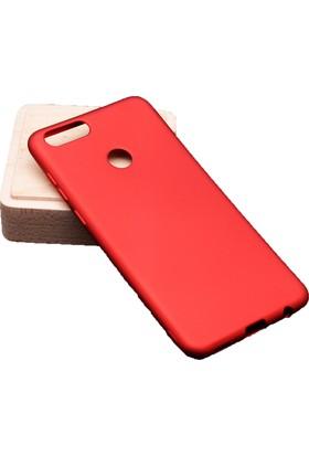 Case 4U Huawei Honor 7X Kılıf Premier Silikon Arka Kapak - Kırmızı