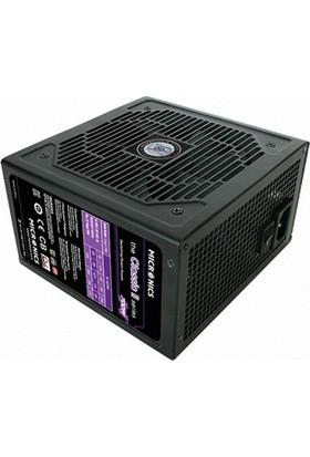 Micronics Classic II 700W 80+ Standart PCI 6+2Pinx4 Sata x6 Ide x3 12cm Fan Aktif Pfc Dual Forward PSU