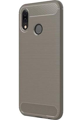 İmonya Huawei P20 Lite Rugged Carbon Tam Koruyucu Silikon Arka Kılıf