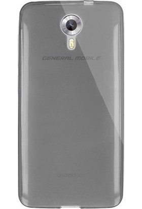 Case 4U General Mobile 4G Android One 0.2 mm Ultra İnce Silikon Kılıf Siyah