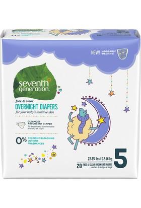 Seventh Generation Bebek Bezi Gece Boyu 5 (12.2 kg ve üstü) 20 Adet