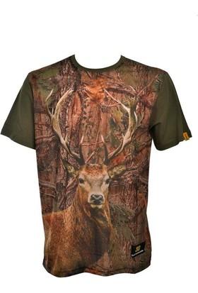 Guntack Geyik Temalı Kısa Kollu Erkek T-Shirt