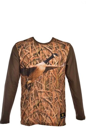 Guntack Kaz Temalı Uzun Kollu Erkek T-Shirt