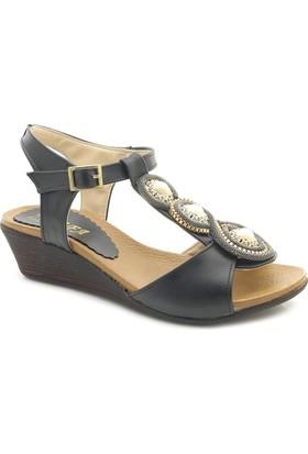 Lady W1213 Alçak Dolgu Topuk Sandalet