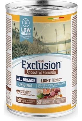 Exclusion Düşük Tahıllı Light Köpek Konservesi 400 Gr x 6 Adet