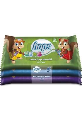Hops Islak Çocuk Mendili 3'lü Paket
