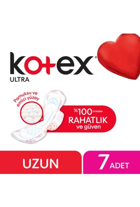 Kotex Ultra Hijyenik Ped Uzun (7 Adet)