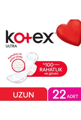 Kotex Ultra Uzun Hijyenik Ped (22 Adet) - Süper Ekonomik Paket