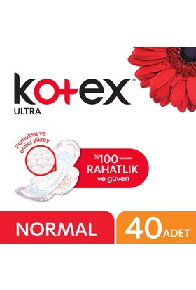 Kotex Ultra Normal Hijyenik Ped (40 Adet) - Dev Ekonomi Paketi