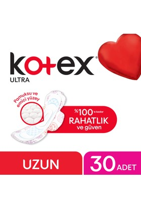 Kotex Ultra Uzun Hijyenik Ped (30 Adet) - Dev Ekonomi Paketi