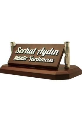 7/24 Hediye Kabartma VIP Ahşap Masa İsimliği