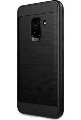 KılıfShop Samsung Galaxy A8 Plus Soft Heavy Duty Kılıf - Siyah + Nano Cam Ekran Koruyucu
