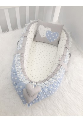 Babynest Mavi Yıldızlı Ortopedik Lüx Yatak