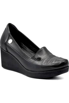 Mammamia D18Ya-3030-B Kadın Deri Ortopedik Günlük Ayakkabı
