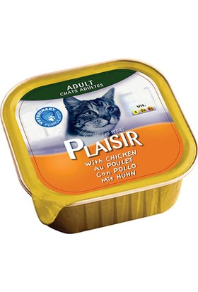 Plaisir 4'lü Tavuklu Pate Yetişkin Kedi Maması 100 Gr