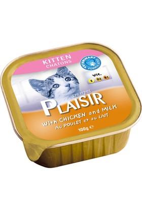 Plaisir 8'li Tavuklu ve Sütlü Pate Yavru Kedi Maması 100 Gr