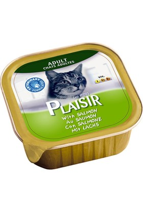 Plaisir 8'li Somonlu Pate Yetişkin Kedi Maması 100 Gr