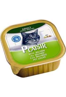 Plaisir 32'li Somonlu Pate Yetişkin Kedi Maması 100 Gr