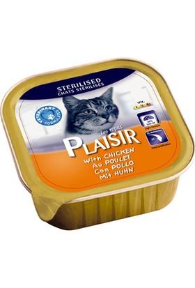 Plaisir 32'li Tavuklu Pate Kısır Kedi Maması 100 Gr -Tasma Hediyeli