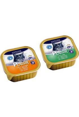 Plaisir 8'li Karışık Pate Kısır Kedi Maması 100 Gr