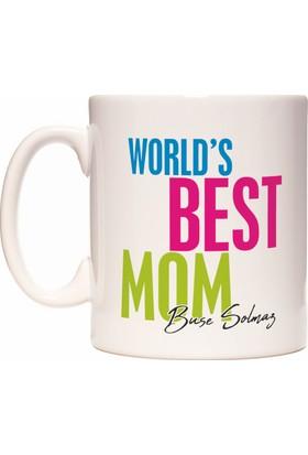 Rock'n Fox Anneler Günü İçin Kişiye İsme Özel İsim Yazılabilir Best Mom Tasarım Kupa Bardak