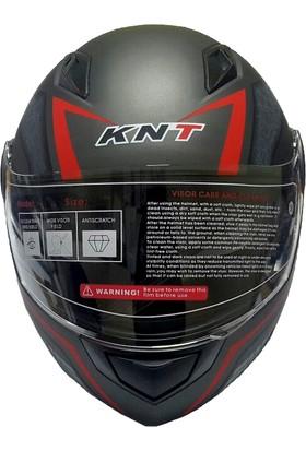 Knt Hsgl Motosiklet Vizörlü Knt105 N88 Mat Titanyum Kask