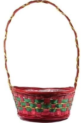 Desen Home Kulplu Sepet Kırmızı Yeşil 32 cm