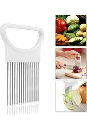 Pratik Şeyler Soğan Tutucu Ve Dilimleyici Aparat Onion Cutter