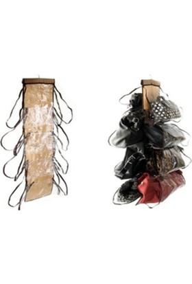 Pratik Şeyler 8 Gözlü Şeffaf Gözlü Kapı Arkası Çanta Askısı Hanging Hangbag