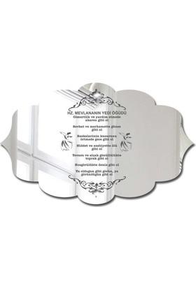 Özgül Grup Pleksi Kapı Süsü Gümüş Ayna - PKSG-21