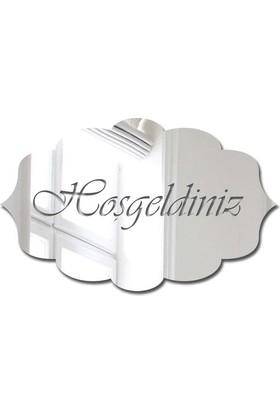 Özgül Grup Pleksi Kapı Süsü Gümüş Ayna - PKSG-03